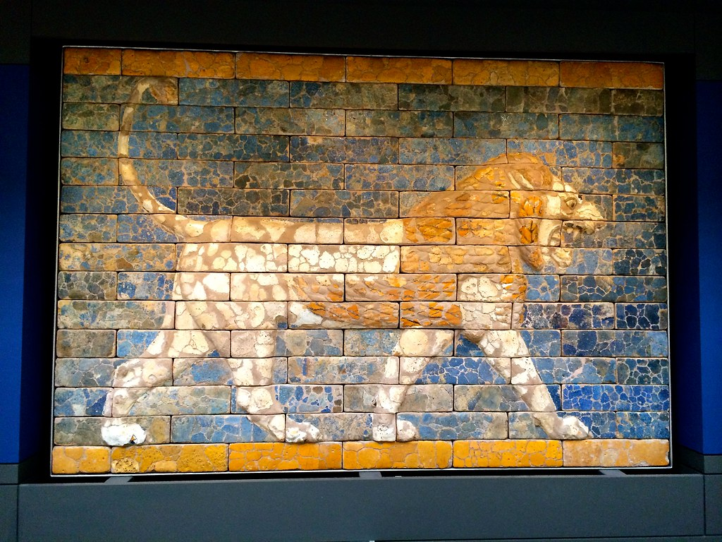 Lion Panel Processional Way to Babylon Ishtar Gate Britis  Flickr