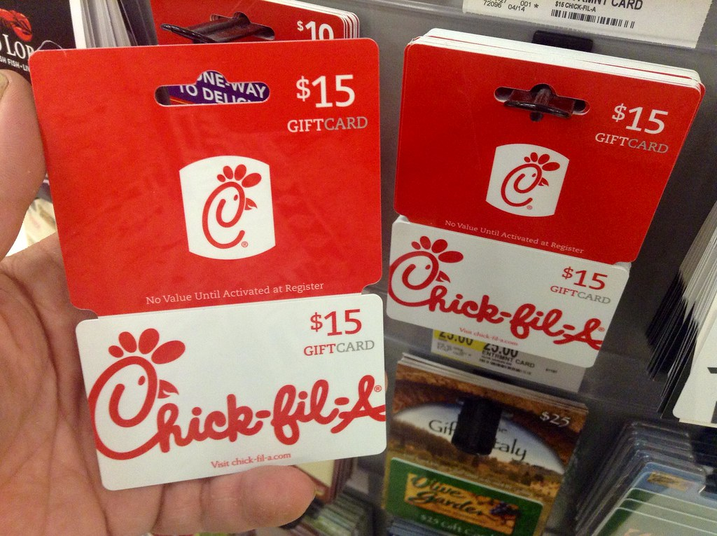 Chick Fil A Chick Fil A Gift Card 72014 Pic By Mike