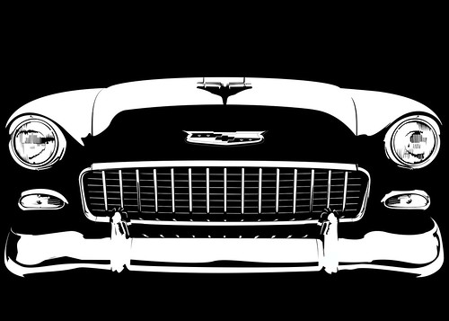 Classic Car Wallpaper 57 Chevy 55 Chevy Bel Air On Black The Beginning Of A Small