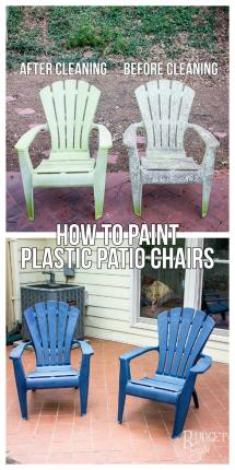 Paint Plastic Patio Chairs - Tastefully Eclectic