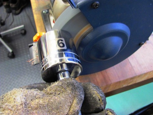 Grinding Off Socket Bevel for A Flat Face