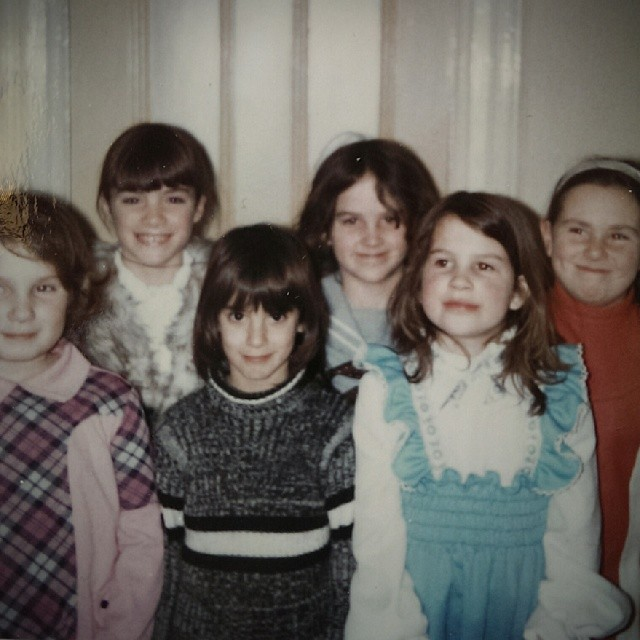 From back in the day when girls were girls and our mothers dressed us funny. #TBT from my 7th or 8th birthday party?