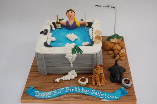 Lady In Hot Tub Cake Beautiful Birthday Cakes