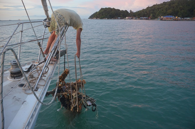 fouled anchor in Pangkor