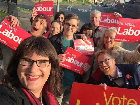 Sophie Cook and labour supporters