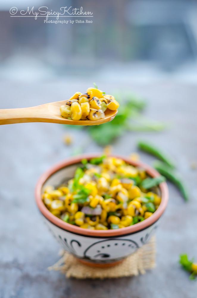 Corn, Fire Roasted Corn Kernels, Corn Kernels, Frozen Corn kernels, Fire roasted corn kernels, Corn stir fry, fire roasted corn stir fry, blogging marathon, semi homemade recipe,