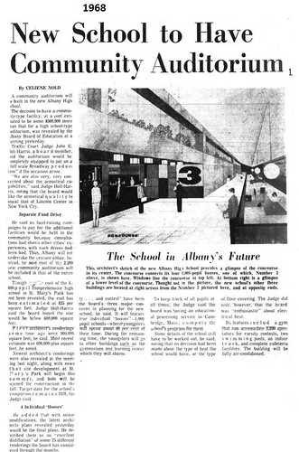 New Albany High School is to have a civic auditorium 1968