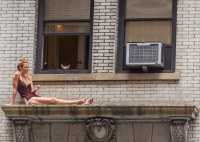 Woman on a Ledge in NYC | When you don't have a balcony in ...