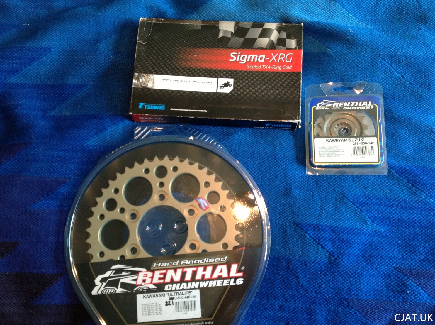 suzuki rf900 renthal sprockets with sigma xrg chain