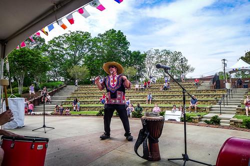 Drumming at the Greer International Festival-008