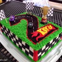 Race Car Themed Birthday Cake [recipe]
