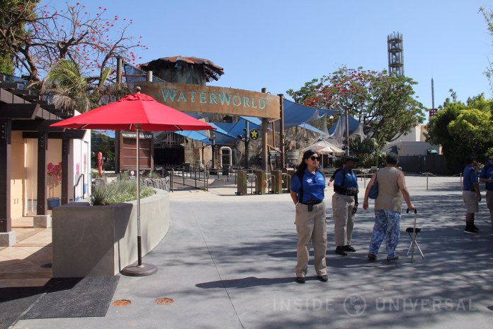 WaterWorld holds first public technical rehearsal after a three-month refurbishment at Universal Studios Hollywood