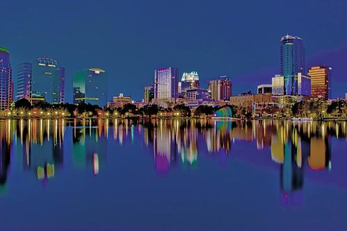 Lake Eola Park, City of Orlando, Orange County, Florida, USA