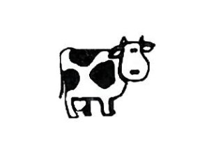 cow drawing simple draw line clipart clip flickr pro library