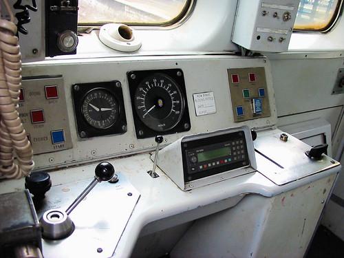 Class 1501 Cab  The drivers desk of class 1501 unit