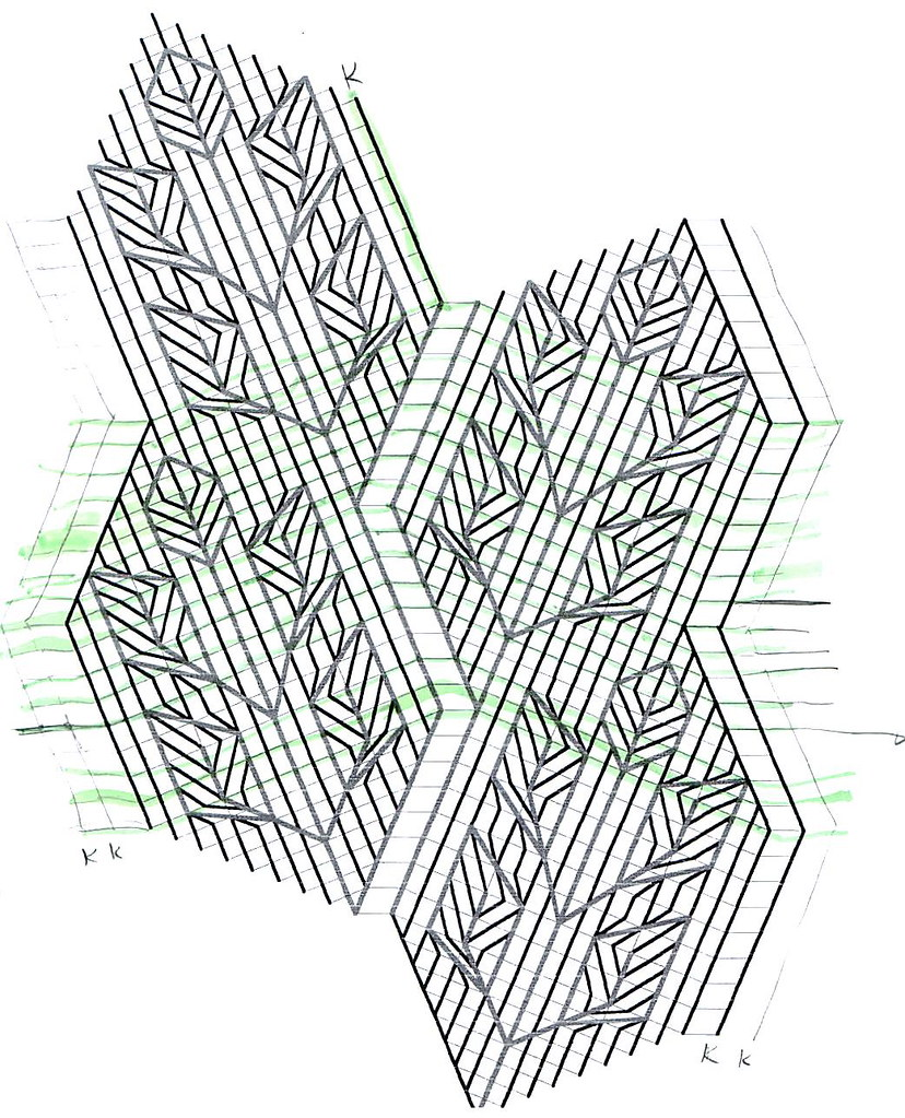 hight resolution of  rose leaf knitting diagram by fuzzyjay