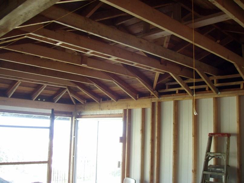 Raising ceiling joists in garage lightneasy