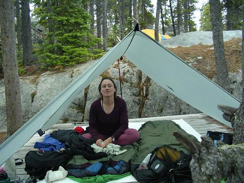 Tarp Camp at Bare Loon Lake, Chilkoot Trail