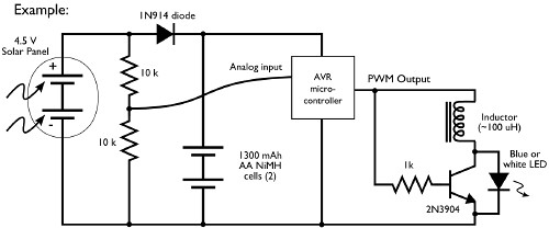 Simple Solar Lamp Circuit