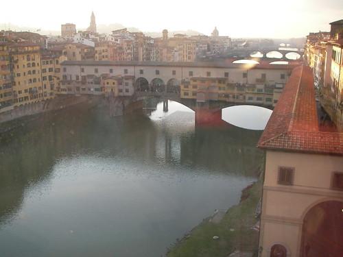 Ponte Vecchio desde la Galería Uffizi. ViajerosAlBlog.com.
