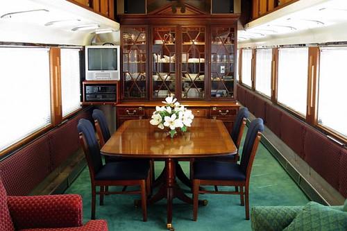Private Rail Car interior  J Pinckney Henderson lounge
