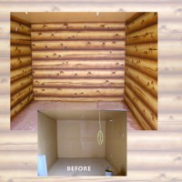 Faux Painting (log finish) | This is a faux finish painted ...
