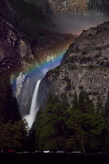 Lunar Rainbow Over Lower Yosemite Falls