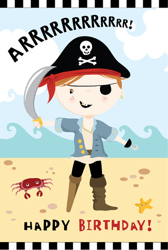 Personalised Pirate Card Available To Buy At