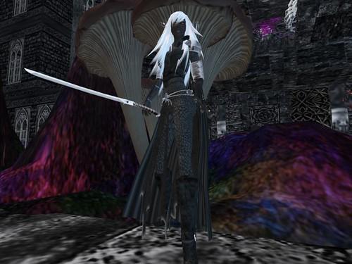 DrowDark Elf Elle Sword In Hand In The Caves Of