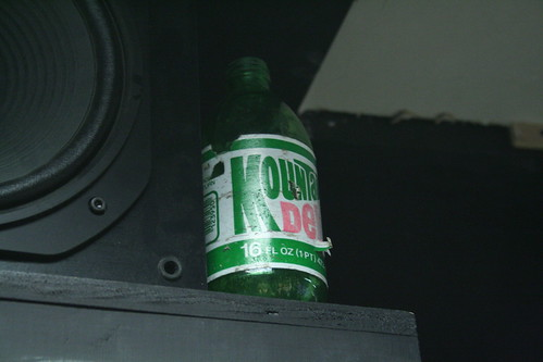 Old glass Mountain Dew Bottle  Found hiding out in a nook