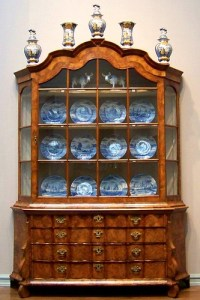 Dutch China Cabinet | Dutch walnut cabinet containing ...