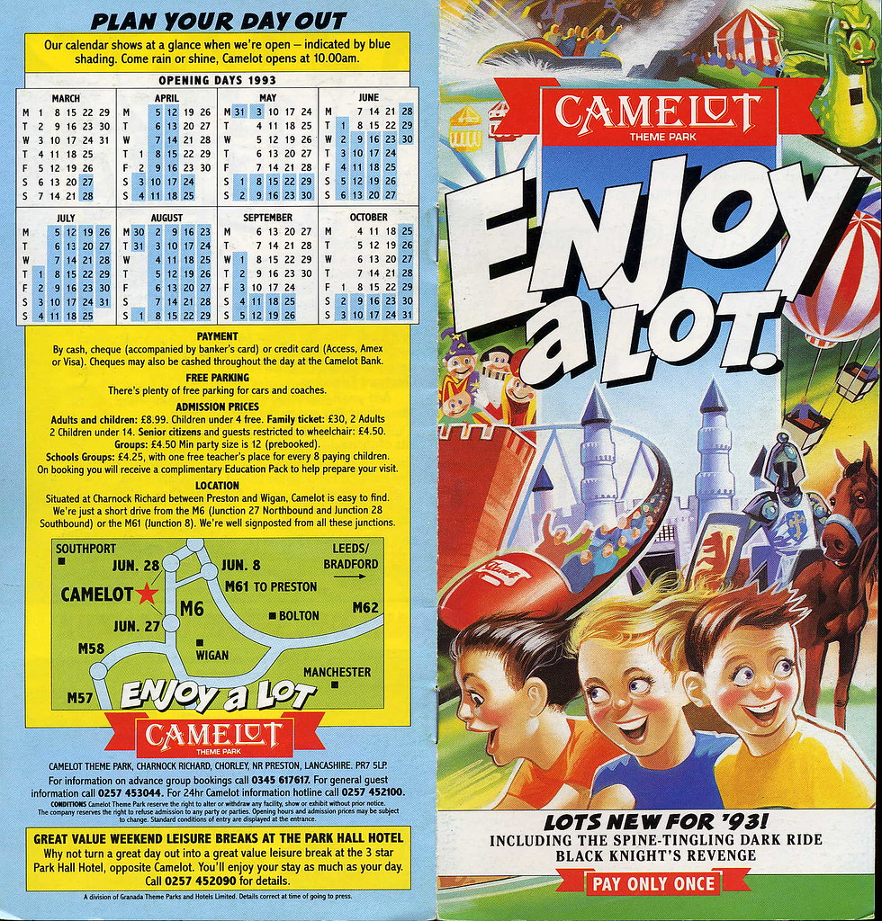 Camelot Theme Park Leaflet From 1993 Trainsandstuff Flickr