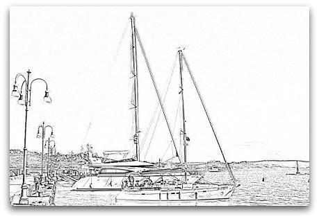 Disegno Paesaggio Di Mare