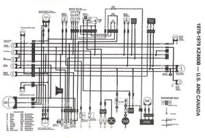 197879 KZ400 stock_wiring_diagram | Original Stock Wiring