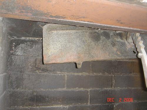 Broken Fireplace Damper Door Pastadna Flickr