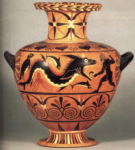 Image result for ancient greek vase shark