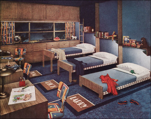 1945 Boys Bedroom by Armstrong  The linoleum flooring
