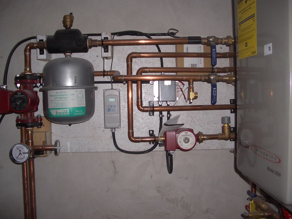 hight resolution of  hot water on demand and radiant floor heating system by electric by nature