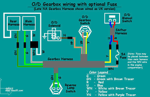 mgb overdrive wiring diagram with fuse