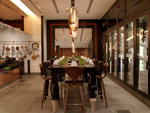 hotel with kitchen hong kong white island butcher block top w restaurant chef table communal d flickr dining by