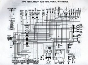 1978 BMW R807 Wiring Diagram | Scanned from a workshop