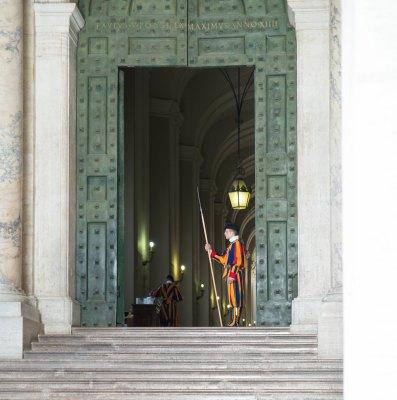 Vatican swiss guard at his post