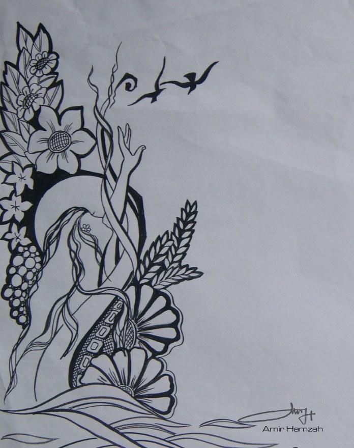 Contoh Gambar Vignet Yang Mudah Untuk Digambar - malaycece