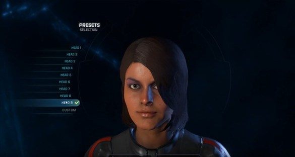 Mass Effect Andromeda - Female Head 9