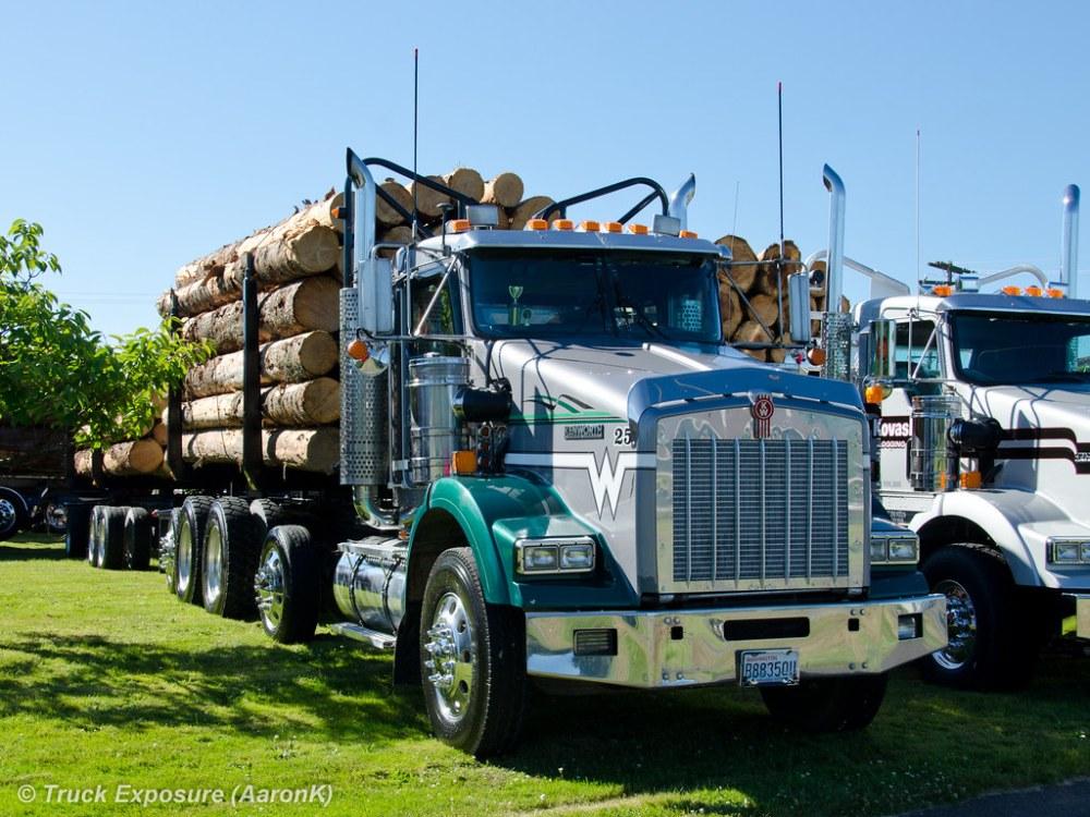 medium resolution of  wyss logging kenworth t800 unit 25 by truck exposure