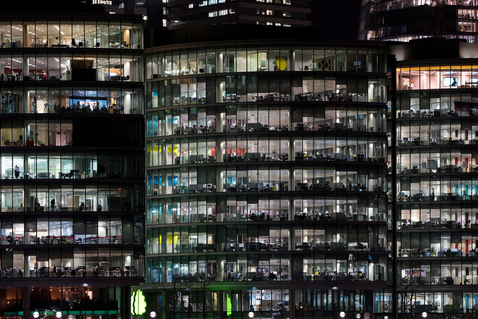 Building in London at night