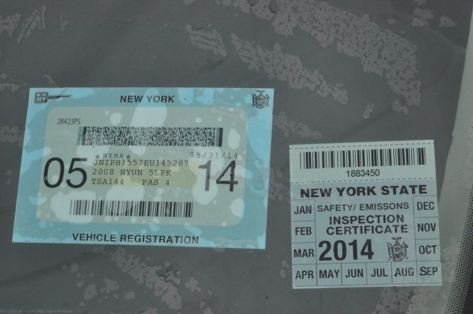 Prop New York State Registration And Inspection Stickers By Triborough