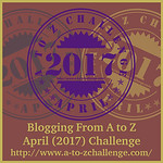 #atozchallenge A2Z BADGE 2017