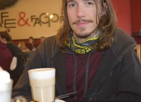 Kyle with coffeee