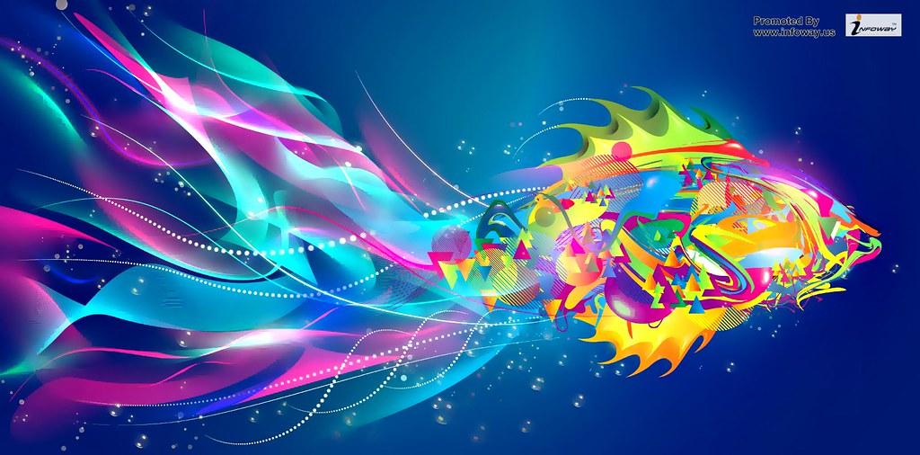Gambar Wallpaper Android Abstrak Colorful Titik Bercahaya